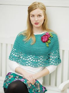 Ponchos for Women | Ravelry: Carousel Capelet pattern by Heather Dixon - pattern in a $4 ...