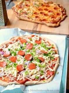 trigo integral receta de masa de pizza