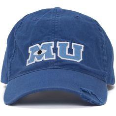 Disney Park M U Monsters University Adult Size Baseball Hat Cap NEW (89 BRL) ❤ liked on Polyvore featuring accessories, hats, caps, disney, disney hats, cap hats, disney cap and baseball cap hats
