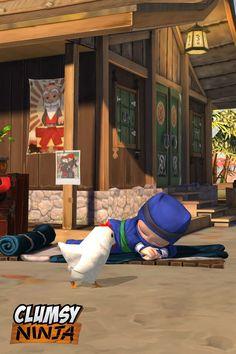 My clumsy ninja sleeps when I sleep.