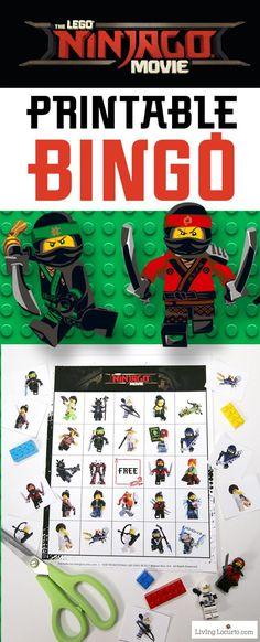 LEGO NINJAGO Movie Bingo free printable game. Fun kids activity for a birthday party or family game night! LEGO Bingo to celebrate The LEGO NINJAGO Movie. Download this Printable LEGO Bingo Game for kid fun. #LEGONINJAGOMovie  #sponsored