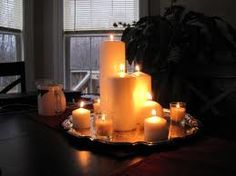1000 images about home decor on pinterest mirror - Candle and mirror centerpieces ...