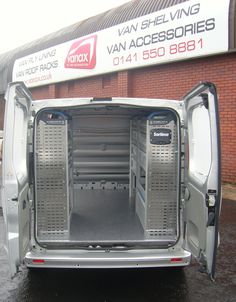 Renault Trafic SWB/Vauxhall Vivaro L1 H1 - Offside and nearside Sortimo racking with upgraded non-slip floor covering