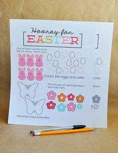 Printable Easter Worksheet