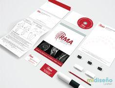 Papelería Corporativa RMA - Diseño Gráfico de Papelería Corporativa para empresas - Mi Diseño Web & Gráfico Costa Rica | www.midisenocostarica.com #DiseñoGrafico #DiseñoGraficoCostaRica #Diseñadores #Brochures #Catalogos #Marcas #CostaRica