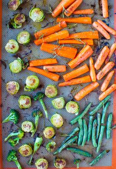 The perfect side to a winter meal. Lemon Rosemary Coconut Oil Roasted Vegetables averiecooks.com