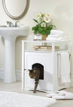 У вас есть кот? Тогда вы занете, какая это сложная дилемма — удобно и при этом незаметно разместить кошачий туалет. Давайте разбираться в проблеме вместе  https://roomble.com/publication/kuda-spryatat-koshachij-tualet-dizajnerskij-podhod/