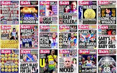 2012 London Olympics as recorded by the front pages of The Sun newspaper.