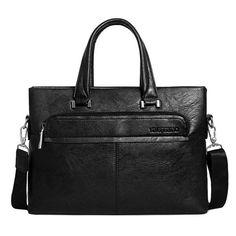 Men PU Business Crossbody Bag Outdoor Handbag Briefcase - US$29.89  #men #women  #bags #fashion