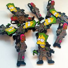The Simpsons x Ghostbusters pin sets from Thumbs now stocked at www.nofitstate.co