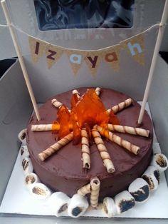 Campfire cake (Tina's cakes---Save Room For Cake)