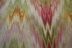 New Yellow Pink Green Stripe Fabric BTY