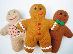 Gingerbread Boy: free knitting pattern...would be fun to just sew an old sweater and decorate!