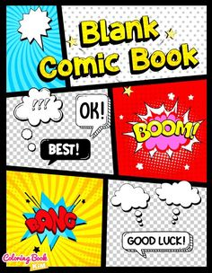 Blank comic to create great stories for children and adults. 120 pages of great and unique templates designed to meet the highest requirements of both small and large artists. The panels are arranged so that it is easy to draw both short and long stories. The size of the panels allows you to draw both larger and smaller scenes.