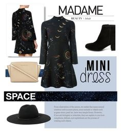 """""""SPACE VALENTINO DRESS"""" by rbnoor310 ❤ liked on Polyvore featuring Valentino, Steve Madden, Ralph Lauren and MICHAEL Michael Kors"""