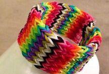 Rainbow loom cuff!!