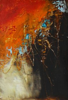 """Autumn Daze"" Oil/Mixed Media on Paper Lisa B. Boardwine"