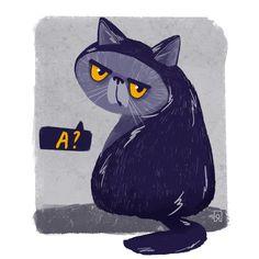 Cute Characters, Animal Drawings, Pet Portraits, Cat Art, Cute Cats, Illustrators, Watercolor Paintings, Concept Art, Decoration