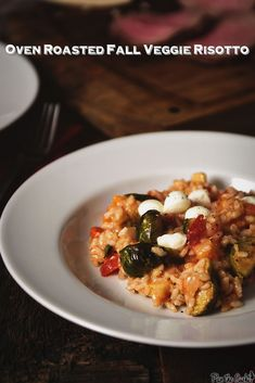 Oven Roasted Fall Veggie Risotto | PasstheSushi.com