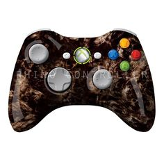 XBOX 360 controller Wireless Glossy WTP-159-Black-Burlwood Custom Painted- Without Mods