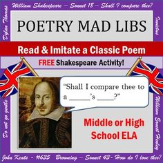 "FREE activity! Read the original poem and make a parody using a ""mad libs"" style template to fill in the blanks!"