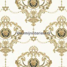 Ashai wit ornament klassiek behang