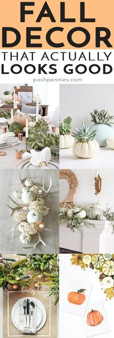 """Well hello Fall! I have been waiting for you! 😍That means it's just about time to start decorating the house with fall decor! I put together a list of fall home decor ideas that jive with my own style. They are more """"modern"""" and less rustic. And not really Halloween themed! 😄 Come see if you like these ideas! ♥️"""