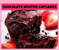 Chocolate Molten Cupcakes #Recipe