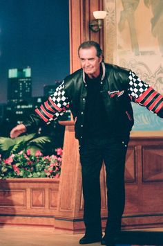 James Garner on The Tonight Show in 1994. Love the Pontiac jacket.  Jim was promoting The Rockford Files Movie.