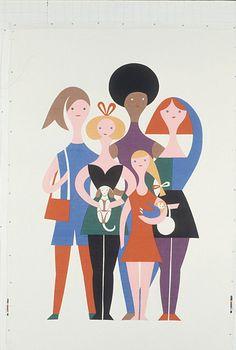 """Girls"", by Alexander Girard"