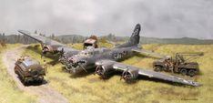 B-17 crash Landing