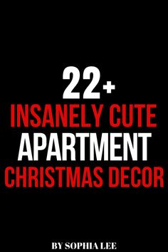 i'm moving into my first apartment soon and can't wait to decorate for the holidays! obsessed with these apartment christmas decor ideas Apartment Christmas, Cute Apartment, Apartment Hacks, My First Apartment, First Apartment Checklist, First Apartment Essentials, Dorm Decorations, Christmas Decorations, Moving House Tips