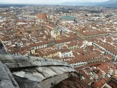 The view over Florence from The Duomo, Florence Cathedral of Santa Maria del Flore. Florence, Italy