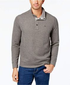 de58e26d Tommy Bahama Men's Cold Springs Mock Neck Sweater, Created for Macy's Man  Cold, Cotton