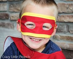 Superhero Mask {Crazy Little Projects} | Oopsey Daisy