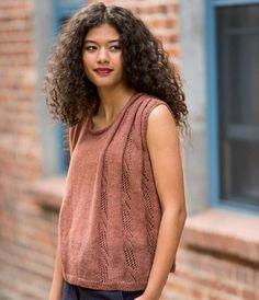 Folded Lace Tank Knitting Pattern Download - $6.50