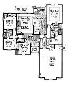 First Floor of Plan ID: 36350