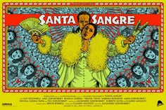 Santa Sangre - Alejandro Jodorowsky - poster art by Florian Bertmer Alamo Drafthouse, Sci Fi Horror Movies, Horror Film, Christian Artwork, Poster Pictures, Movie Collection, Film Stills, Film Posters, Graphic Design Illustration