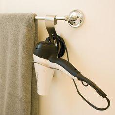 GreatUsefulStuff - Hair Dryer Hanger, $19.99 (http://www.greatusefulstuff.com/bathroom/hair-dryer-hanger/)