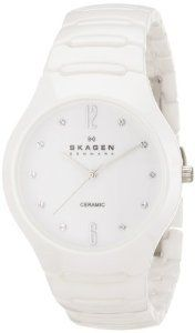 #Skagen Womens Sk817ssxc Ceramic White  women watch #2dayslook #new #watch #nice  www.2dayslook.com