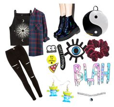 """Blah"" by vintagethread-s on Polyvore featuring H&M, T.U.K., Chicnova Fashion, River Island, Wild Pair, Lazy Oaf and Wet Seal"