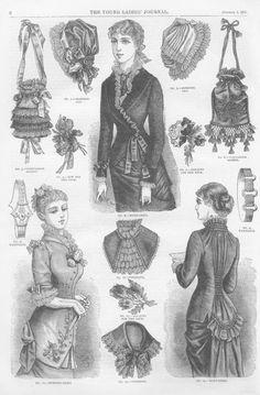 1880's fashion details