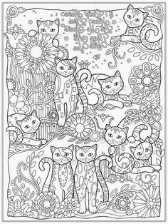 Free cat mindful coloring pages for kids adults Adult coloring
