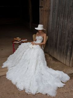 Wedding dress LEONA with long train Royal wedding dress Royal Wedding Gowns, Luxury Wedding Dress, Perfect Wedding Dress, Princess Wedding, Dream Wedding Dresses, Designer Wedding Dresses, Bridal Dresses, Famous Wedding Dresses, Wedding Dress Corset