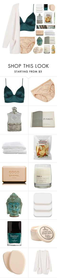 """""""one day i will be gone thank god."""" by annamari-a ❤ liked on Polyvore featuring Topshop, Wacoal, Tiffany & Co., Assouline Publishing, Crate and Barrel, Chanel, Le Labo, COVERGIRL, Clé de Peau Beauté and Monki"""