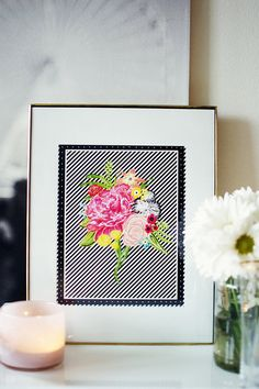 SOPHIA floral and graphic wall art