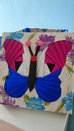 Caixa borboleta, pach dobradura