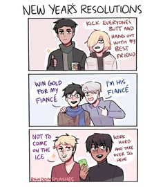 """randomsplashes: """"first comic of 2017!! here's hoping these new year's resolutions happen in s2 (but idk about chris lmao) """""""