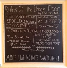 Feel Good TentEvent Great Dancing Wedding Sign