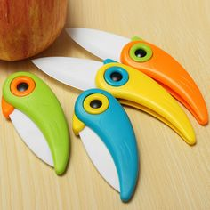 4-color Bird Folding Mini Ceramic Knife Kitchen Tool Vegetable Fruit Knives